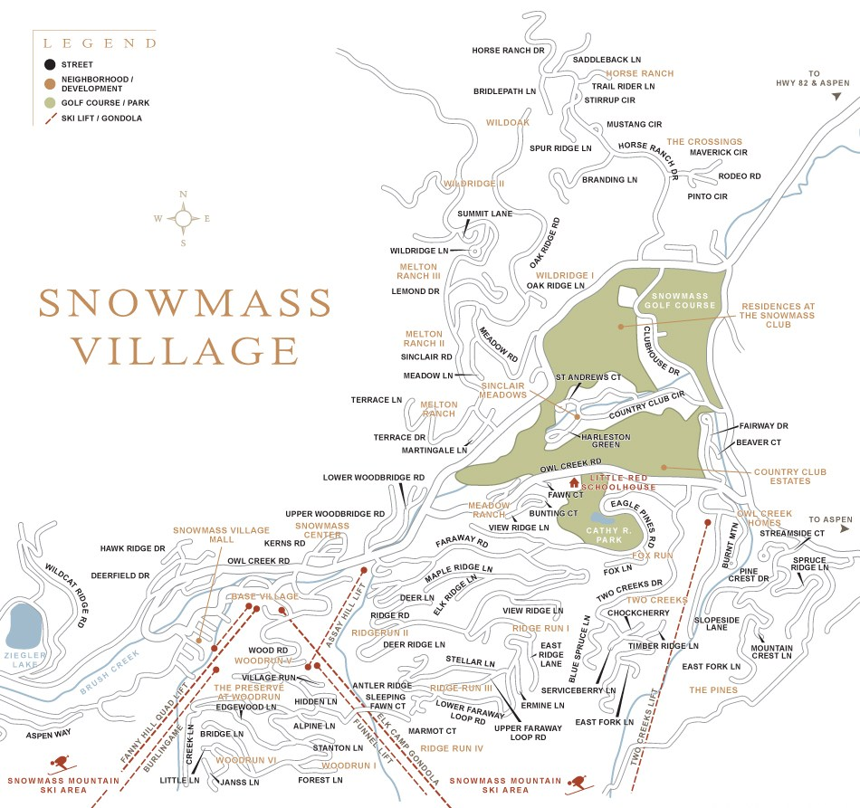 snowmass village colorado town map aspen snowmass real estate